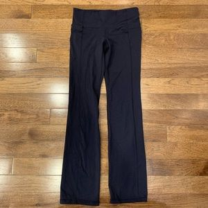 ATHLETA BLACK STRAIGHT LEG JOGGER-TRACK PANT